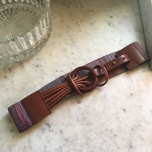 Cute leather and stretchy belt #180222002